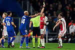 Daley Blind of AFC Ajax sees the yellow card during UEFA Europa League match between Getafe CF and AFC Ajax at Coliseum Alfonso Perez in Getafe, Spain. February 20, 2020. (ALTERPHOTOS/A. Perez Meca)