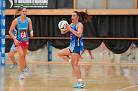 Mystics&rsquo; Emma Iversen in action during the Netball Pre Season Tournament - Mystics v Steel at Ngā Purapura, Otaki, New Zealand on Saturday 9 February  2019. <br /> Photo by Masanori Udagawa. <br /> www.photowellington.photoshelter.com