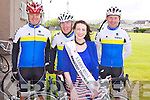 RACE: Member's of Tralee Bicycle Club with the Kerry Rose Gemma Kavanagh at the start of the Emergency Services Charity Cycle at the Kerins O'Rahillys GAA club on Saturday l-r: Pat O'Sullivan, Matt Lacey, Kerry Rose Gemma Kavanagh and Mark Ryall.