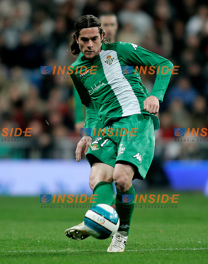 Real Betis's Miguel Angel Lozano during the Spanish League match between Real Madrid and Real Betis at Santiago Bernabeu Stadium  in Madrid, Saturday February 17 2007. (INSIDE/ALTERPHOTOS/B.echavarri).
