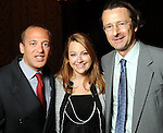 From left: Marc Sharpe, Stacy Sofer and Dan Dubrowski at the Holocaust Museum Houston's 2010 Lyndon Baines Johnson Moral Courage Award Dinner at the Hilton Americas Houston Monday May 03,2010.  (Dave Rossman Photo)