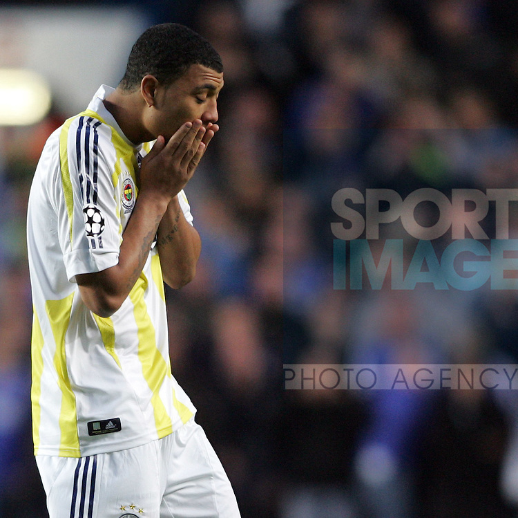 Fenerbahce's Colin Kazim-Richards looks on dejected as his side go 1-0 down