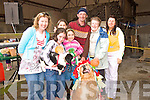 Bow wow ! Colette Lane, Rosin and Sara O' Keefe, Emma Lyons, Ben O' Keefe, Eileen and Bernie Lane, with their dogs Sammy and Brinkley, Sammy the spaniel won two prizes at the Dan Paddy Andy dog show, at the four Elms, Lyreacompagne.