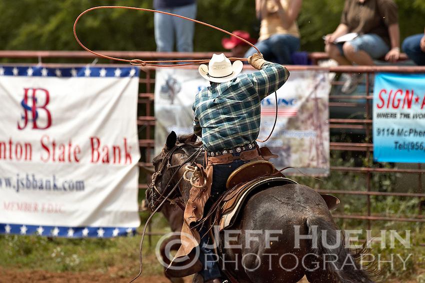 COTULLA, TX - SEPTEMBER 2, 2007: The Cotulla Ranch Rodeo Fiesta held at the Cotulla Rodeo Grounds in Cotulla, Texas. (Photo by Jeff Huehn)