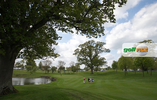 View to the 11th green during Monday's practice round ahead of the 2016 Dubai Duty Free Irish Open Hosted by The Rory Foundation which is played at the K Club Golf Resort, Straffan, Co. Kildare, Ireland. 16/05/2016. Picture Golffile | David Lloyd.<br /> <br /> All photo usage must display a mandatory copyright credit as: &copy; Golffile | David Lloyd.