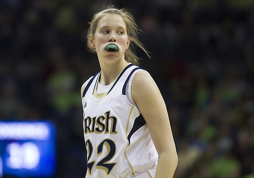 January 26, 2013:  Notre Dame guard Madison Cable (22) during NCAA Basketball game action between the Notre Dame Fighting Irish and the Providence Friars at Purcell Pavilion at the Joyce Center in South Bend, Indiana.  Notre Dame defeated Providence 89-44.