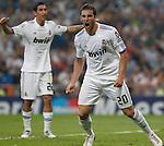 MADRID (15/(09/2010).- Champions League match Real Madrid vs Ajax Amsterdam. Gonzalo Higuain and Angel Di Maria...Photo: Cesar Cebolla / ALFAQUI