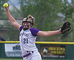 Spanish Springs pitcher Tyra Clary throws against Douglas in the NIAA 4A Northern Regional Softball Championship at Bishop Manogue High School in Reno, Nevada on Saturday, May 12, 2018.