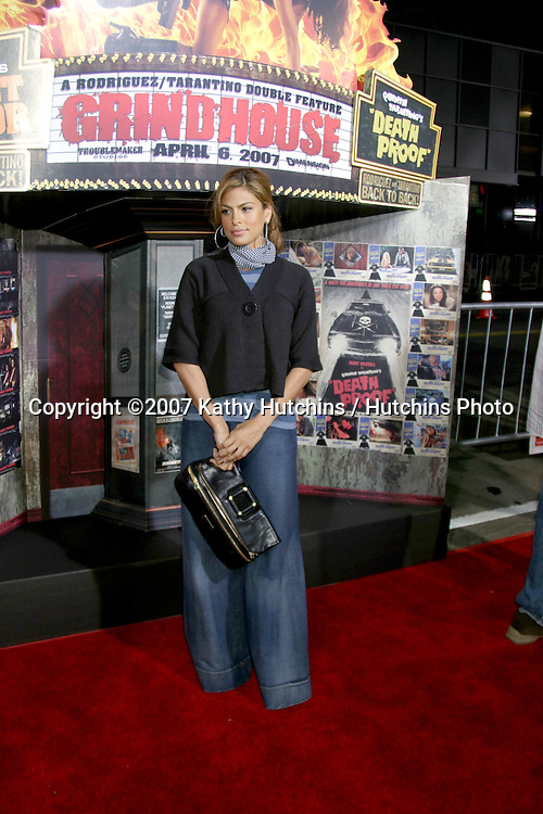 "Eva Mendes.""Grindhouse"" Los Angeles Premiere.Orpheum  Theater.Los Angeles, CA.March 25, 2007.©2007 Kathy Hutchins / Hutchins Photo."