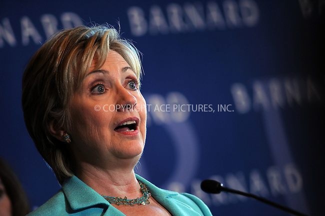 WWW.ACEPIXS.COM . . . . . ....September 15 2008, New York City....Senator (Dem) Hillary Rodham Clinton made a speech about equal pay for women at Barnard College on September 15 2008 in New York City........Please byline: KRISTIN CALLAHAN - ACEPIXS.COM.. . . . . . ..Ace Pictures, Inc:  ..(646) 769 0430..e-mail: info@acepixs.com..web: http://www.acepixs.com