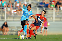 Boyds, MD - Saturday June 25, 2016: Taylor Lytle, Christine Nairn during a United States National Women's Soccer League (NWSL) match between the Washington Spirit and Sky Blue FC at Maureen Hendricks Field, Maryland SoccerPlex.