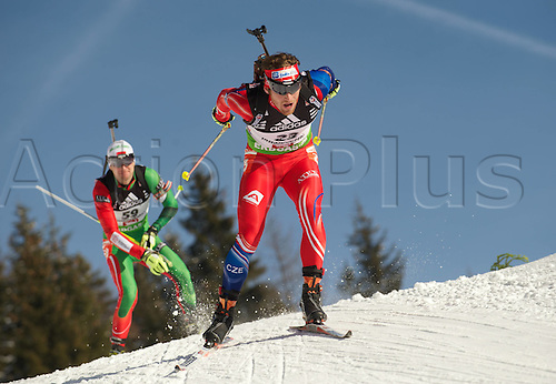 09.12.2011, Hochfilzen, Austria. The IBU Biathlon men's 10km Sprint Slesingr Michal CZE Biathlon World Cup