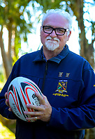 """Western Roosters Mixed Veges senior 4 rugby manager Ray """"The Kernel"""" Simpson in Wellington, New Zealand on Tuesday, 24 February 2020. Photo: Dave Lintott / lintottphoto.co.nz"""