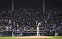 Kenta Maeda (Dodgers),<br /> OCTOBER 15, 2016 - MLB :<br /> Kenta Maeda of the Los Angeles Dodgers prays on the mound before delivering the first pitch in the first inning during the National League Championship Series (NLCS) Game 1 against the Chicago Cubs at Wrigley Field in Chicago, Illinois, United States. (Photo by AFLO)