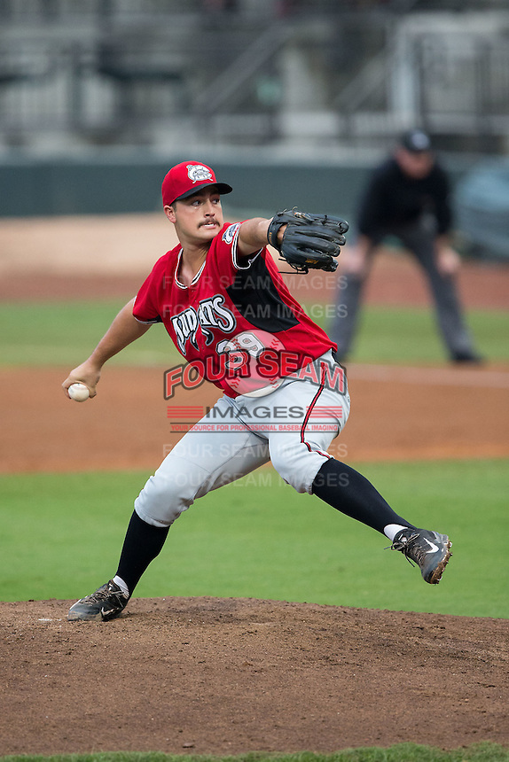 Carolina Mudcats starting pitcher Andrew Thurman (39) in action against the Winston-Salem Dash at BB&T Ballpark on July 23, 2015 in Winston-Salem, North Carolina.  The Dash defeated the Mudcats 3-2.  (Brian Westerholt/Four Seam Images)