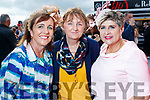 Kay Healy (Cromane), Mary Keane (Ballybunion) and Sheila McGillycuddy (Milltown), enjoying Ladies Day at Listowel Races on Friday last.