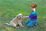 Eric Gandrup & Yellow Lab Puppy
