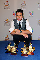 Prince Royce in the pressroom at Univision's Premio Lo Nuestro a La Musica Latina at American Airlines Arena on February 16, 2012 in Miami, Florida. © mpi10/MediaPunch Inc