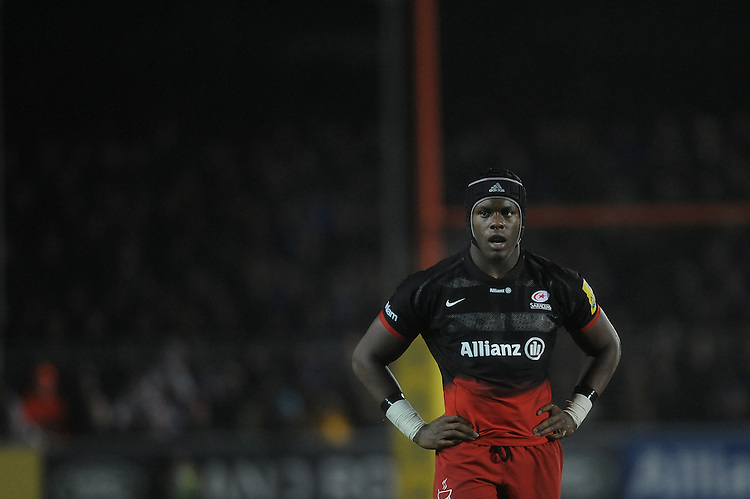Maro Itoje of Saracens looks on during the Premiership Rugby match between Saracens and Leicester Tigers - 02/01/2016 - Allianz Park, London<br /> Mandatory Credit: Rob Munro/Stewart Communications
