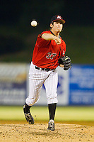 Kannapolis Intimidators relief pitcher Tyler Danish (37) in action against the Rome Braves at CMC-Northeast Stadium on August 24, 2013 in Kannapolis, North Carolina.  The Intimidators defeated the Braves 6-1.  (Brian Westerholt/Four Seam Images)