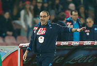 during the  italian serie a soccer match,between SSC Napoli and Chievo Verona      at  the San  Paolo   stadium in Naples  Italy , March 05, 2016<br /> Napoli won  3 - 1