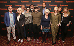 """Mark Lambert, Dearbhla Molloy, Stuart Graham, Laura Donnelly, playwright Jez Butterworth, Fra Fee, Justin Edwards, Fionnula Flanagan, Genevieve O'Reilly, Tom Glynn-Carney, and producer Sonia Friedman attend the Meet the Broadway cast of """"The Ferryman"""" during the press photo call on October 4, 2018 at Sardi's in New York City."""