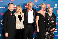 Miguel Bose, Cristina Cifuentes, Doctor Clotet, Belen Rueda and Manuela Carmena attends to the photocall of the Gala Sida at Palacio de Cibeles in Madrid. November 21, 2016. (ALTERPHOTOS/Borja B.Hojas) //NORTEPHOTO.COM