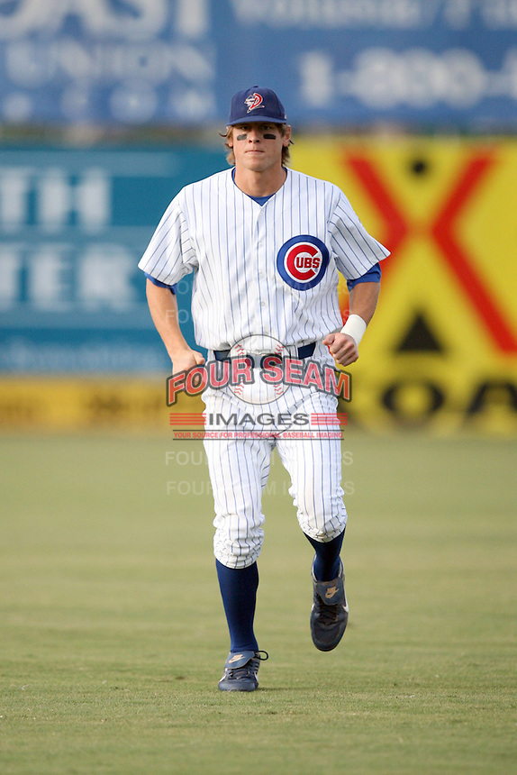 August 15, 2008: Jim Aducci (11) of the Daytona Cubs at Jackie Robinson Ballpark in Daytons, FL. Photo by: Chris Proctor/Four Seam Images