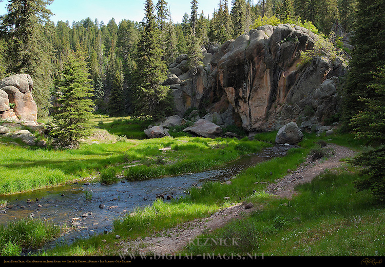 Jemez River Trail, East Fork of the Jemez River, Jemez Mountains, Santa Fe National Forest, Los Alamos, New Mexico