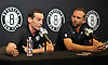 Brooklyn Nets Coach Kenny Atkinson, left, and General Manager Sean Marks speak with the media at HSS Training Center in Brooklyn, NY on Tuesday, Sept. 18, 2018.