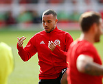 Samir Carruthers of Sheffield Utd warms up during the Championship match at the City Ground Stadium, Nottingham. Picture date 30th September 2017. Picture credit should read: Simon Bellis/Sportimage