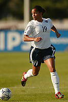 Danielle Slaton of the USWNT. The USWNT defeated Russia on  September 29, at Mitchel Athletic Complex, Uniondale, NY.