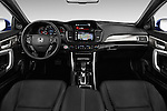 Stock photo of straight dashboard view of 2016 Honda Accord Touring 2 Door Coupe Dashboard