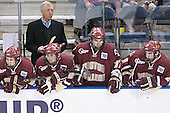 Dan Bertram, Jerry York, Benn Ferreiro, Joe Rooney, Brett Motherwell - The Boston College Eagles defeated the University of North Dakota Fighting Sioux 6-5 on Thursday, April 6, 2006, in the 2006 Frozen Four afternoon Semi-Final at the Bradley Center in Milwaukee, Wisconsin.