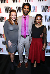 Adrienne Campbell-Holt, Sendhil Ramamurthy and Kavi Ladnier attends the WP Theater's 40th Anniversary Gala -  Women of Achievement Awards at the Edison Hotel on April 15, 2019  in New York City.