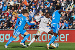 Ferland Mendy of Real Madrid andMauro Arambarri of Getafe FC during La Liga match between Getafe CF and Real Madrid at Coliseum Alfonso Perez in Getafe, Spain. January 04, 2020. (ALTERPHOTOS/A. Perez Meca)