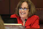 Nevada Assemblywoman Debbie Smith, D-Sparks, works in committee at the Legislature, in Carson City, Nev., on Wednesday, March 23, 2011.  .Photo by Cathleen Allison