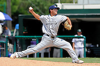 5 June 2010:  FIU's Eric Berkowitz (2) pitches in the seventh inning as the Dartmouth Green Wave defeated the FIU Golden Panthers, 15-9, in Game 3 of the 2010 NCAA Coral Gables Regional at Alex Rodriguez Park in Coral Gables, Florida.
