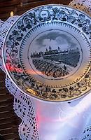 Europe/France/Aquitaine/33/Gironde/Saint-Estèphe: château Cos d'Estournel (AOC Saint-Estèphe) - Détail assiette lors d'une réception