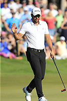 Adrian Otaegui (ESP) putts on the 18th green during Sunday's Final Round of the 2018 Turkish Airlines Open hosted by Regnum Carya Golf &amp; Spa Resort, Antalya, Turkey. 4th November 2018.<br /> Picture: Eoin Clarke | Golffile<br /> <br /> <br /> All photos usage must carry mandatory copyright credit (&copy; Golffile | Eoin Clarke)