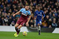 Robert Snodgrass of West Ham Unitedduring Chelsea vs West Ham United, Premier League Football at Stamford Bridge on 30th November 2019