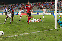 Couva, Trinidad & Tobago - Tuesday Oct. 10, 2017:  Jozy Altidore and Benny Feilhaber and Bobby Woodduring a 2018 FIFA World Cup Qualifier between the men's national teams of the United States (USA) and Trinidad & Tobago (TRI) at Ato Boldon Stadium.
