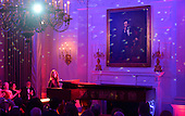 American singer-songwriter Sara Bareilles performs during a state dinner honoring Prime Minister Justin Trudeau of Canada and Mrs. Sophie Gr&eacute;goire Trudeau at the White House March 10, 2016 in Washington, DC. <br /> Credit: Olivier Douliery / Pool via CNP