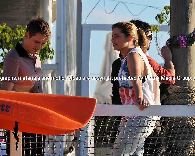 8th September, 2014 SYDNEY AUSTRALIA<br />  EXCLUSIVE <br /> Pictured,  Jessica Grace-Smith and Jake Speer, cast members of Home and Away doing scenes at the Pittwater location near Barrenjoey Boat Hire, Palm Beach, NSW. <br /> <br /> *No internet without clearance*.MUST CALL PRIOR TO USE +61 2 9211-1088. Matrix Media Group.Note: All editorial images subject to the following: For editorial use only. Additional clearance required for commercial, wireless, internet or promotional use.Images may not be altered or modified. Matrix Media Group makes no representations or warranties regarding names, trademarks or logos appearing in the images.