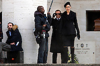 Monica Bellucci e Daniel Craig<br /> Roma 19-02-2015 Eur. Primo giorno di riprese sul set del nuovo film 007 dal titolo Spectre<br /> First day on the set of the new film of James Bond, 007, titled Spectre, shot in Rome<br /> Photo Samantha Zucchi Insidefoto