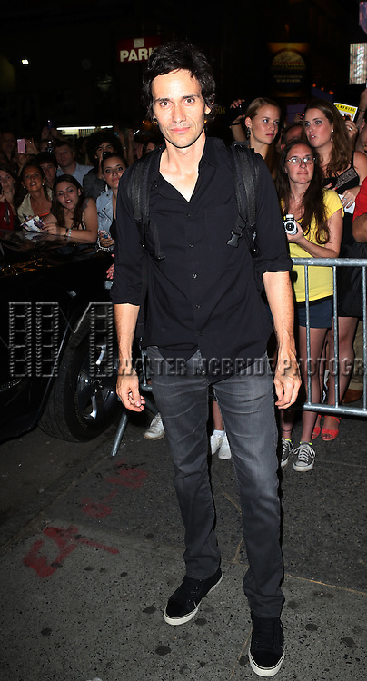 "Christian Camargo greeting fans at the stage door after the First Performance of ""Romeo And Juliet"" On Broadway at the Richard Rodgers Theatre in New York City on 8/24/2013"