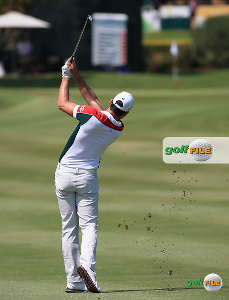 James Robinson (ENG) in action during the Final Round of the 2016 Tshwane Open, played at the Pretoria Country Club, Waterkloof, Pretoria, South Africa.  14/02/2016. Picture: Golffile | David Lloyd<br /> <br /> All photos usage must carry mandatory copyright credit (&copy; Golffile | David Lloyd)