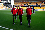 Dean Henderson, John Lundstram and Jack O'Connell of Sheffield Utd during the Premier League match at Molineux, Wolverhampton. Picture date: 1st December 2019. Picture credit should read: Simon Bellis/Sportimage