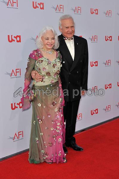 12 June 2008 - Hollywood, California - Edwin Buzz Aldrin and Lois Aldrin. 36th AFI Life Achievement Award tribute to Warren Beatty held at the Kodak Theatre. Photo Credit: Jaguar/AdMedia