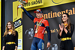 Dylan Teuns (BEL) Bahrain-Merida wins Stage 6 of the 2019 Tour de France running 160.5km from Mulhouse to La Planche des Belles Filles, France. 11th July 2019.<br /> Picture: Serge Waldbillig | Cyclefile<br /> All photos usage must carry mandatory copyright credit (© Cyclefile | Serge Waldbillig)